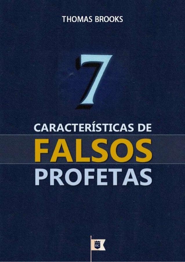 7 Características de Falsos Profetas