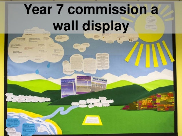 Year 7 commission a wall display