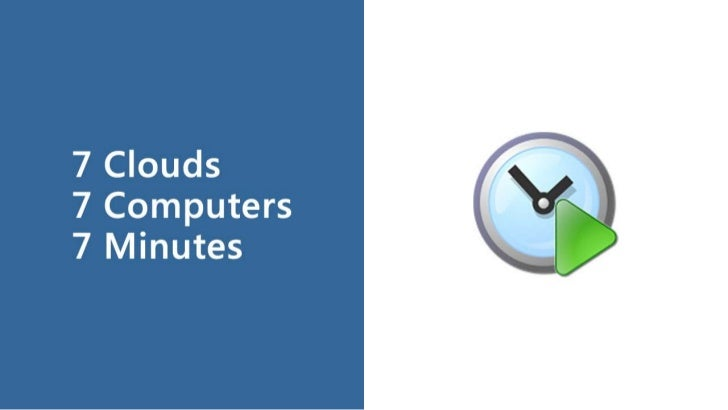 7 Clouds, 7 Computers, 7 Minutes