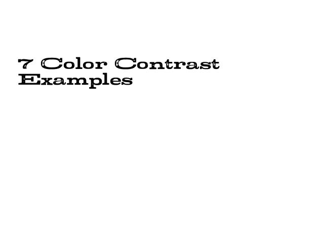 7 color contrasts