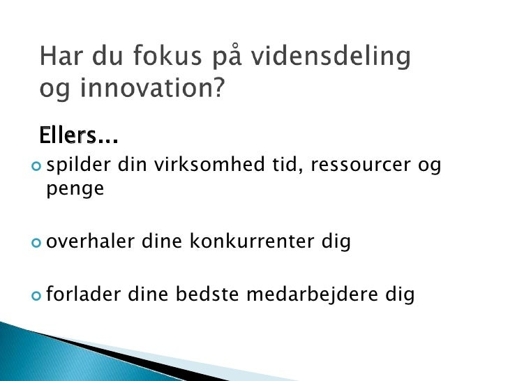 Produktet 7connect - Vidensdeling Og Innovation