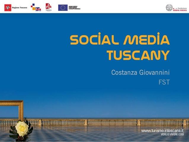 IBT 2013 - Social Media Tuscany by Costanza Giovannini
