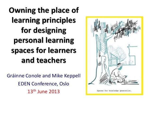 EDEN 2013 Learning Design and Designing TEL spaces workshop
