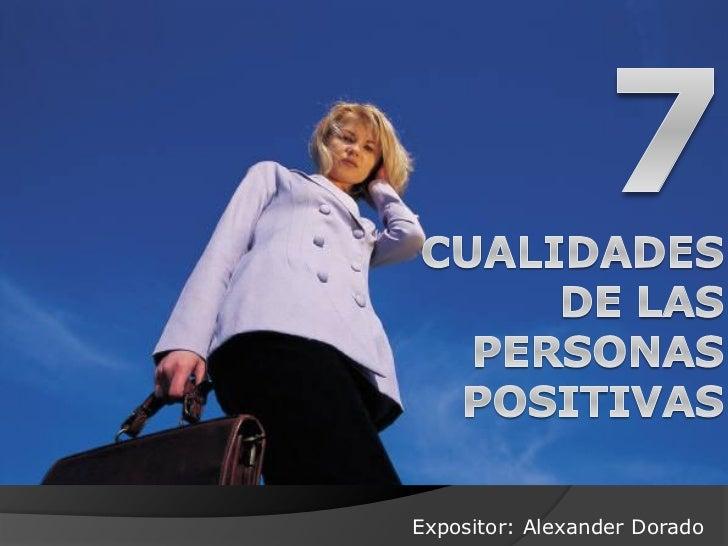 Expositor: Alexander Dorado