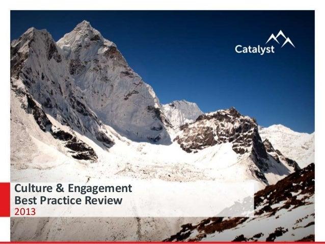 Culture & Engagement Best Practice Review 2013