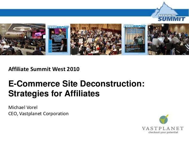 E-Commerce Site Deconstruction: Strategies for Affiliates