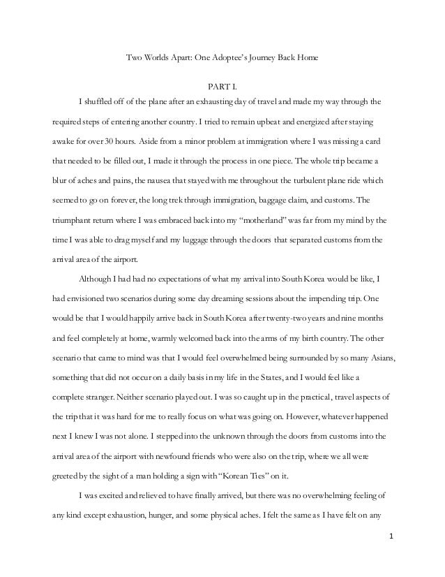 Traveling essay sample