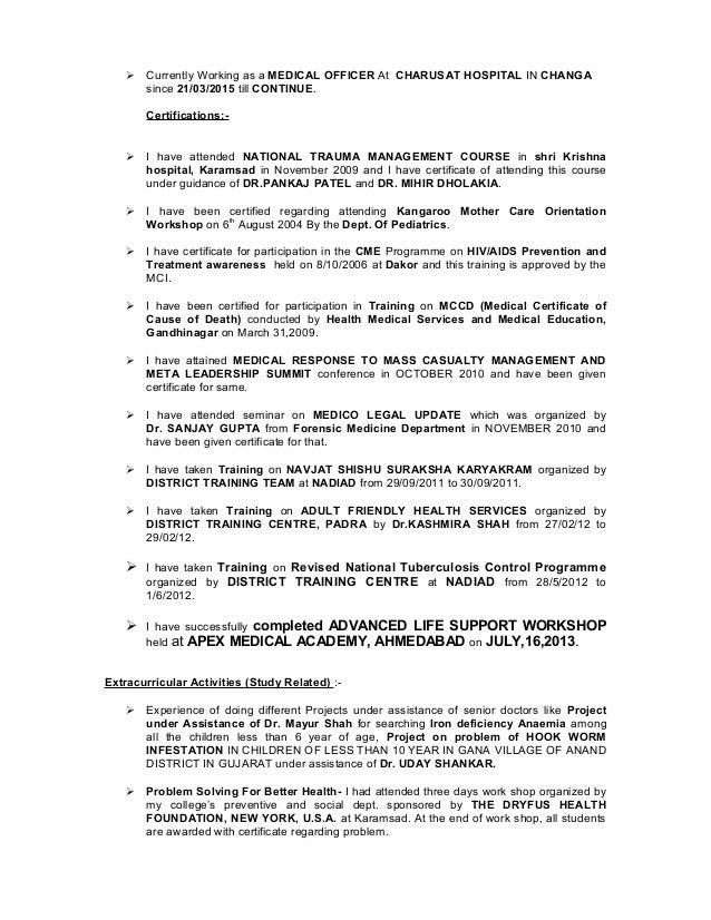Dr.Bhavin Resume