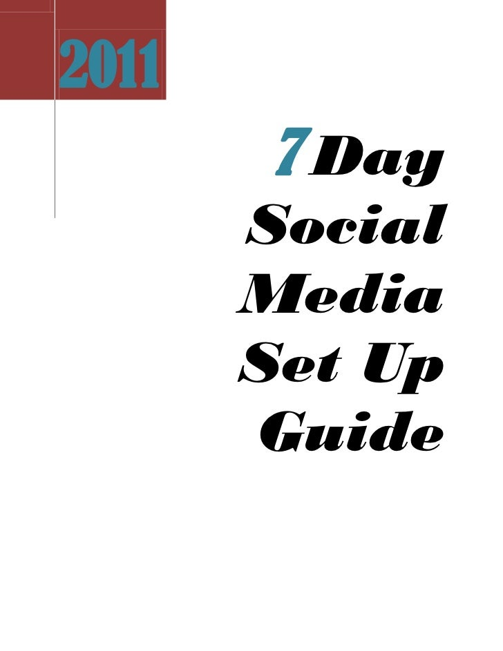 7 Day Social Media Set Up Guide