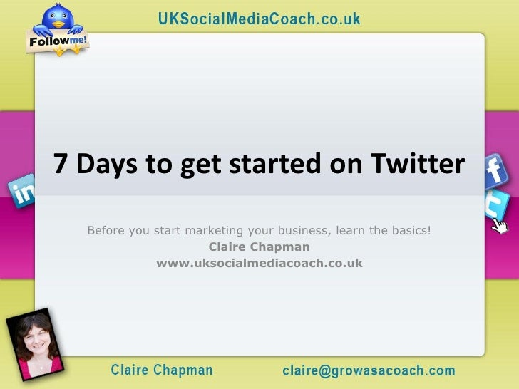 7 days to get started on twitter