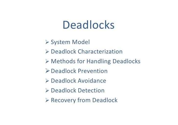 7 Deadlocks