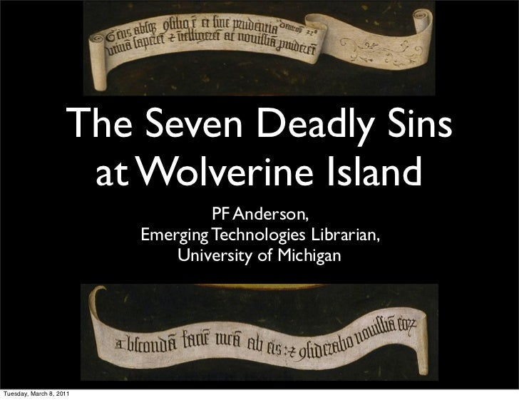 The Seven Deadly Sins                     at Wolverine Island                                  PF Anderson,               ...