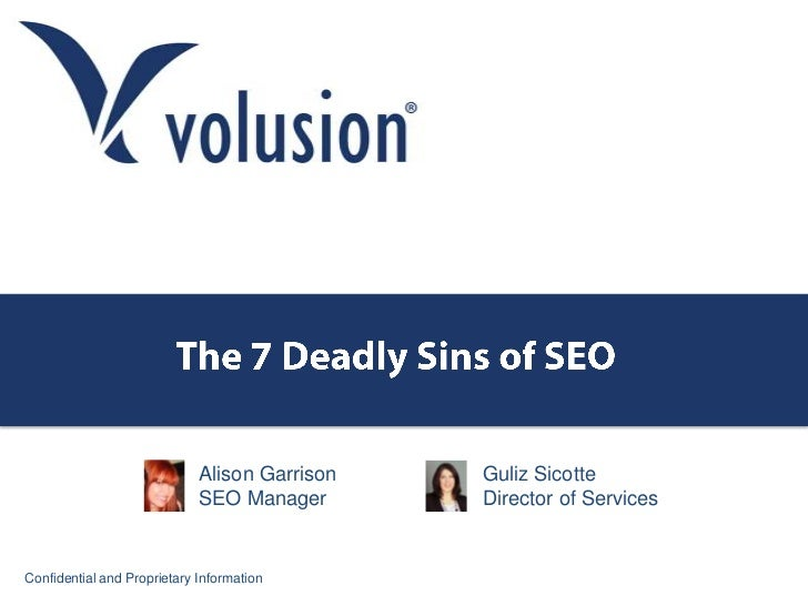 7 Deadly Sins of Ecommerce SEO
