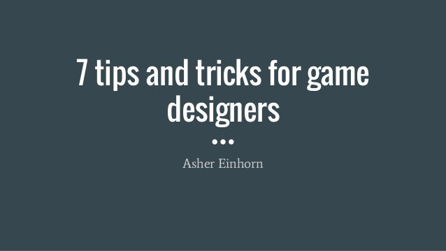 gaming tips and tricks