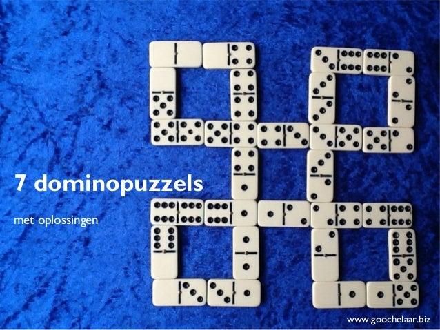 7 dominopuzzels met oplossingen voor kinderboekenweek 2013 over sport en spel