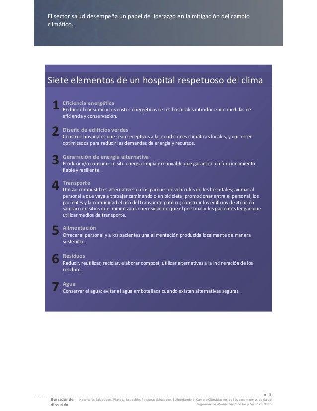 7 elementos de un hospital respetuoso del clima