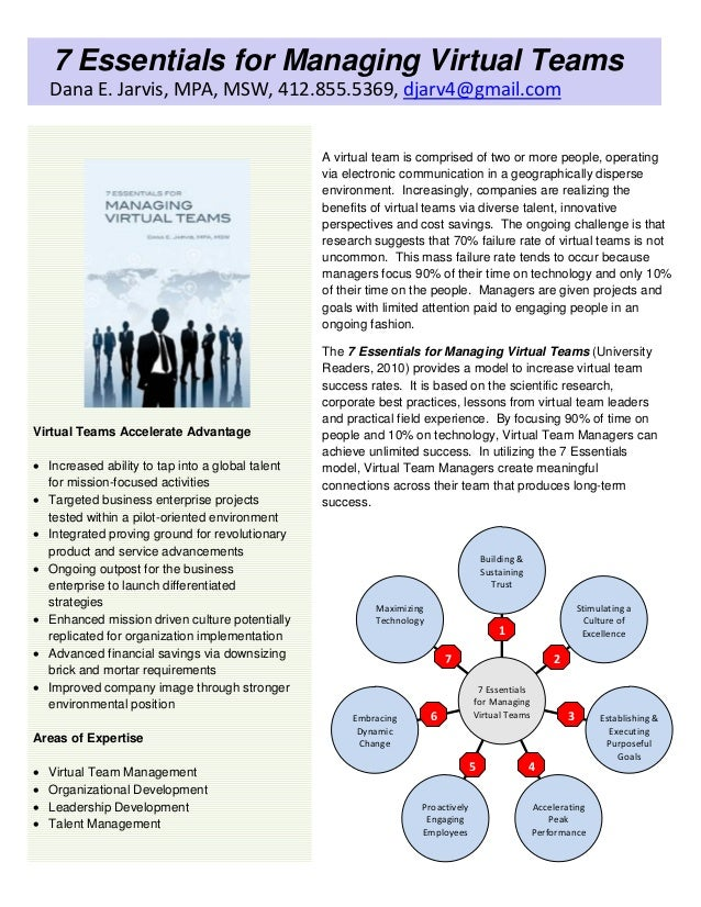 managing communication virtual teams Because virtual teams lack face-to-face communication, leading them can be challenging and requires special skills learn what leadership skills are needed to manage a virtual team successfully no matter what the situation.