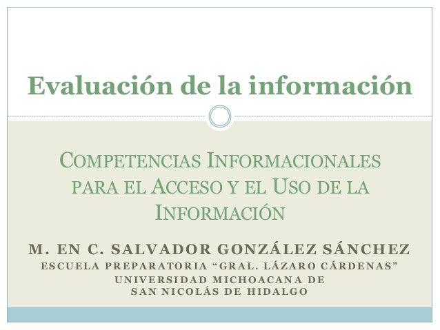 7 evaluación de la información