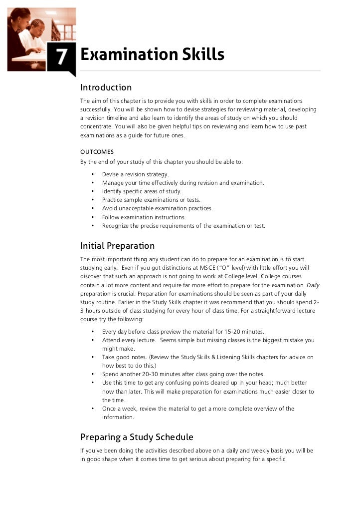 Examination SkillsIntroductionThe aim of this chapter is to provide you with skills in order to complete examinationssucce...