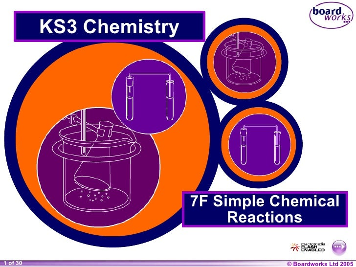 KS3 Chemistry 7F Simple Chemical Reactions