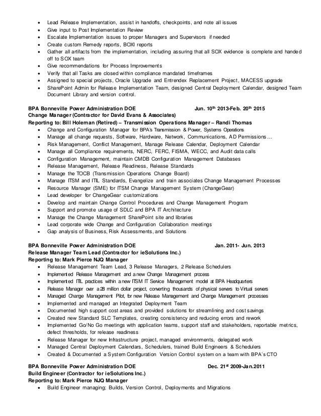 Sox compliance team lead resume