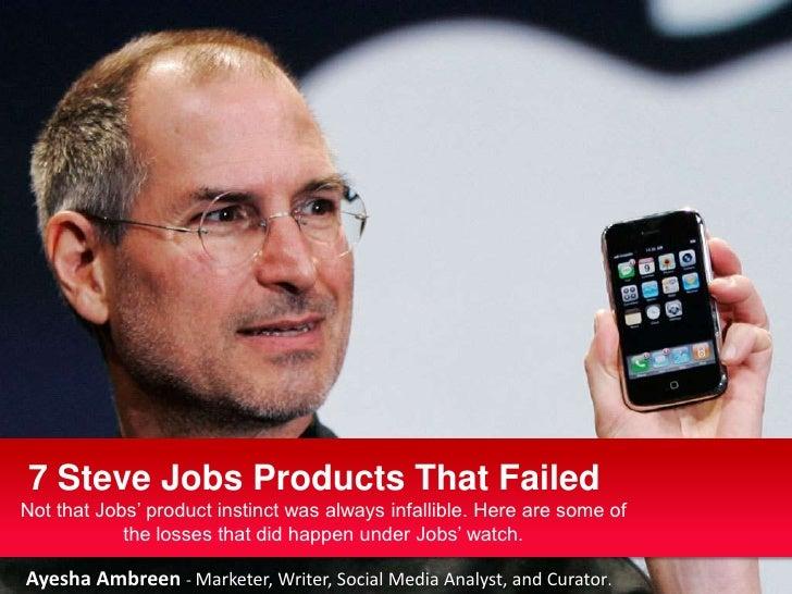 7 failed steve jobs's products