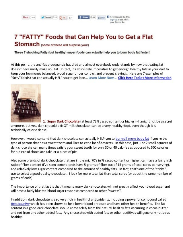 7 Fatty Foods that can Help You have a Flat Stomach