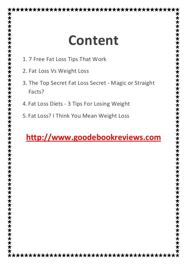 Free Fat Loss Tips 36