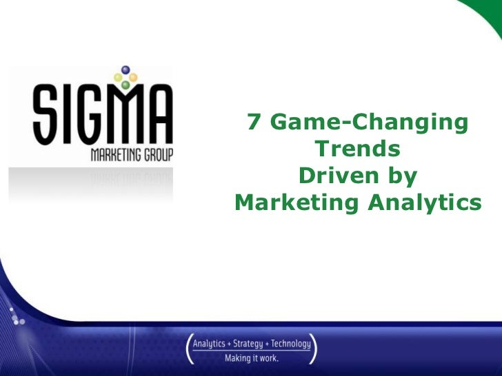 7 Game Changing Marketing Trends - Driven By Marketing Analytics