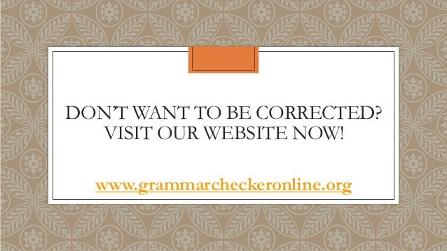 Correct grammar website