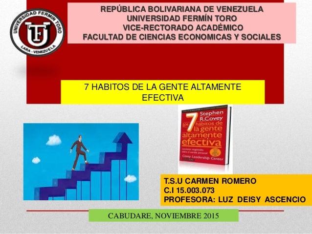 REPÚBLICA BOLIVARIANA DE VENEZUELA UNIVERSIDAD FERMÍN TORO VICE-RECTORADO ACADÉMICO FACULTAD DE CIENCIAS ECONOMICAS Y SOCI...