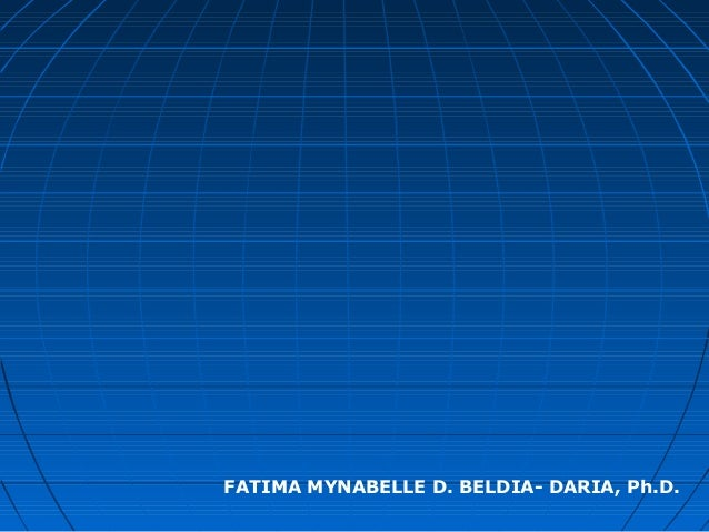 FATIMA MYNABELLE D. BELDIA- DARIA, Ph.D.