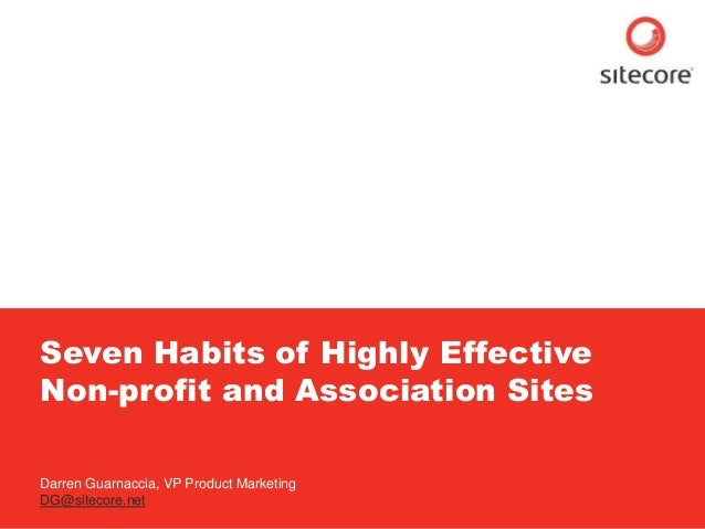7 Habits of Highly Effective Nonprofit and Association Sites