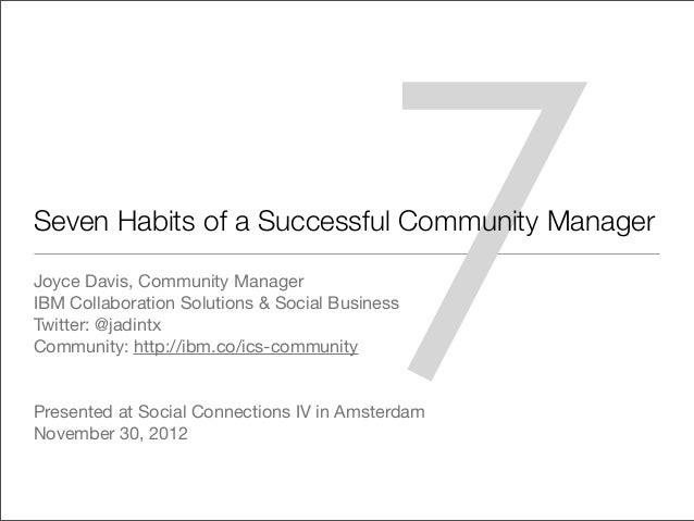 7 habits of successful community managers