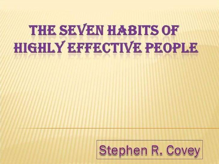 7 habits  presentation