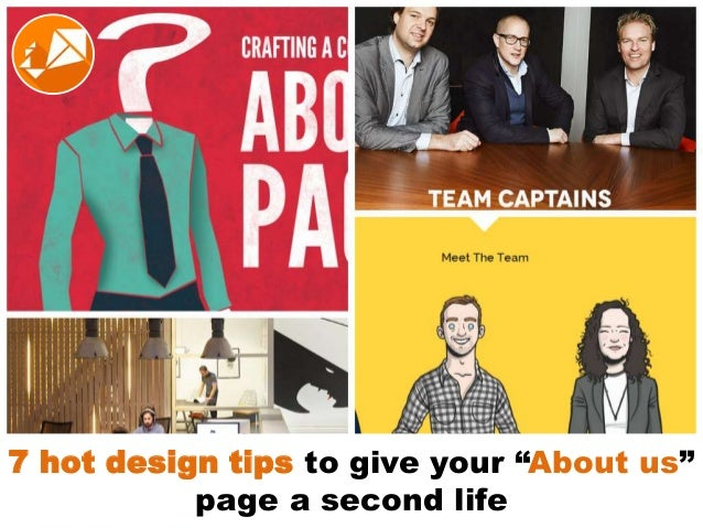 "7 hot design tips to give your ""about us"" page a second life"