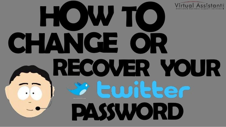How to Change or Recover Your Twitter Password