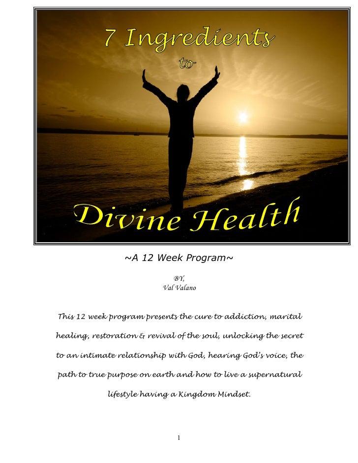 7 Ingredients To Divine Health Printable