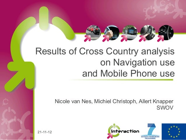 Results of Cross Country analysis               on Navigation use           and Mobile Phone use           Nicole van Nes,...