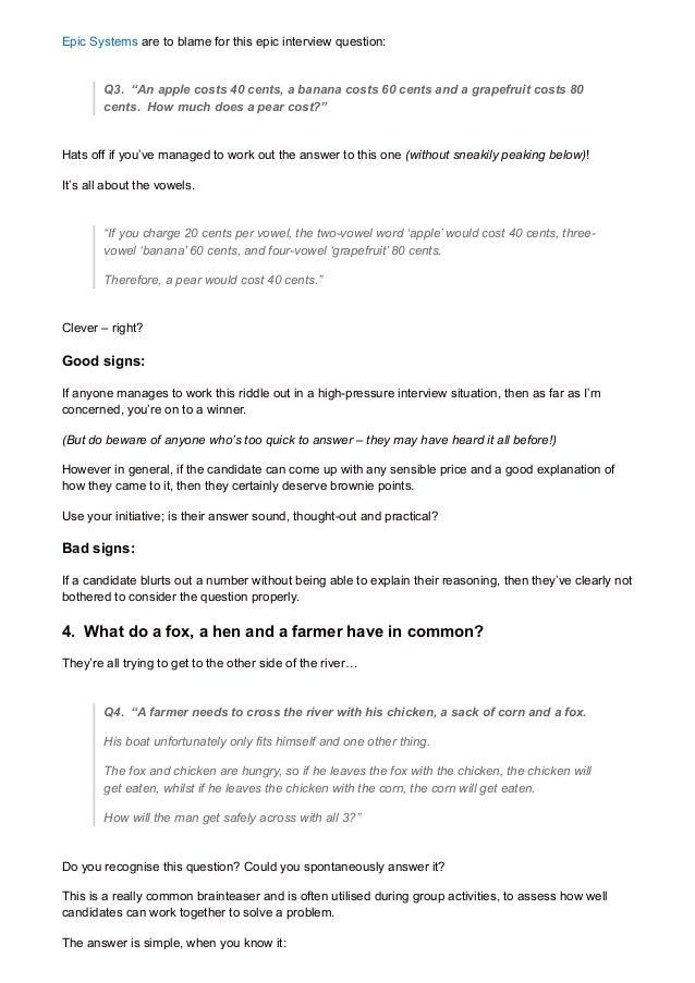 interview assessment essay