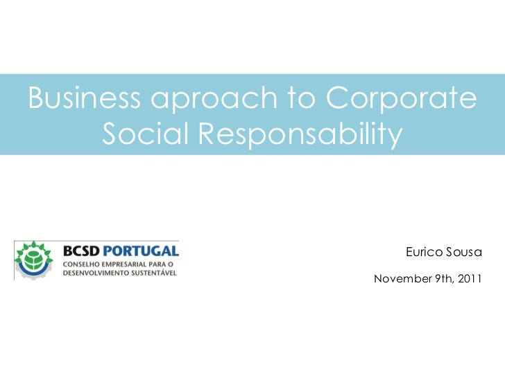 """ISLE Professionalization Fair 7. Eurico Sousa: """"The business approach to Corporate Social Responsability"""