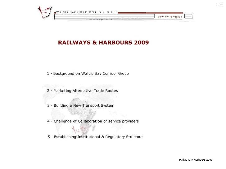 Namibia as an alternative port & rail corridor for SADC