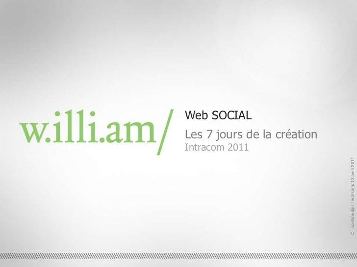 Web SOCIAL<br />Les 7 jours de la création<br />Intracom 2011<br />