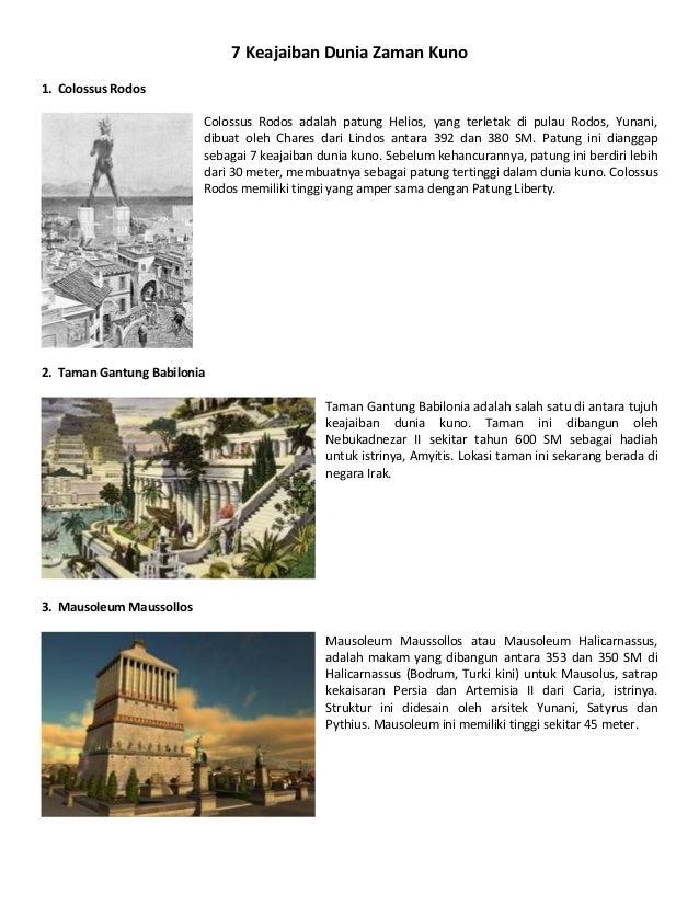 7 Keajaiban Dunia Zaman Kuno