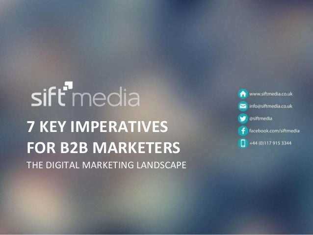 7 key imperatives for B2B marketers