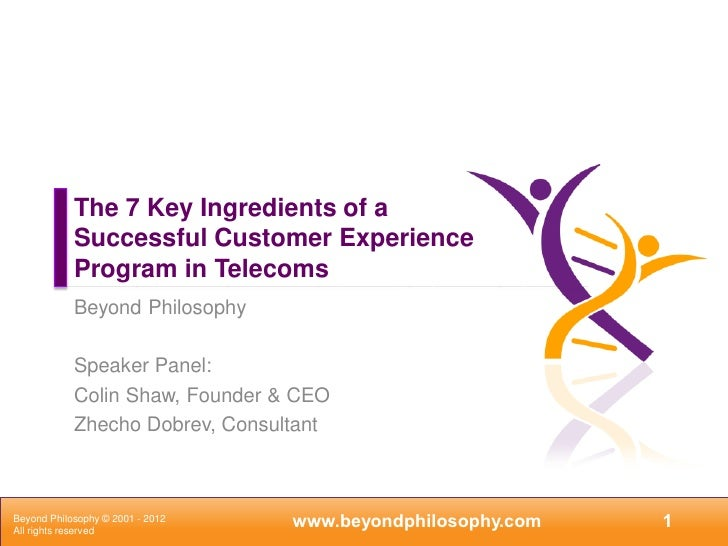7 key ingredients of a ce program in telecoms