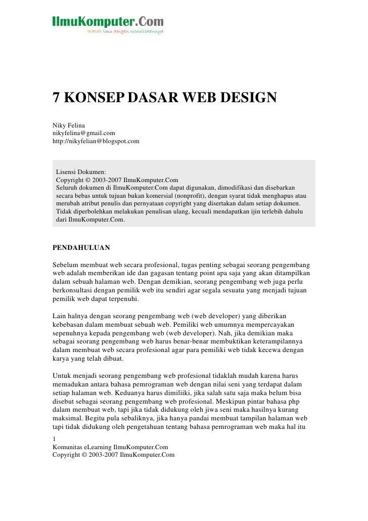 7konsepdasarwebdesign