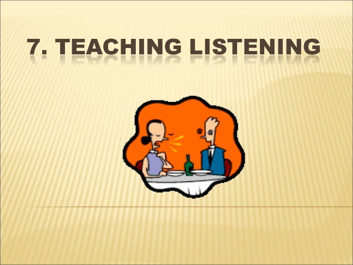 an introduction to teaching listening Teaching listening in efl classrooms in the teaching of listening 21 introduction according to vandergrift (1999), listening comprehension is a complex.