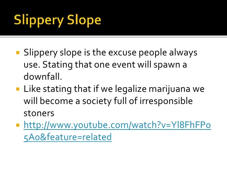 how slippery is the slope essay Slippery slope fallacy an explanation and an example of this logical fallacy.