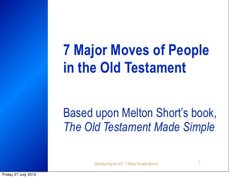7 major Old Testament moves